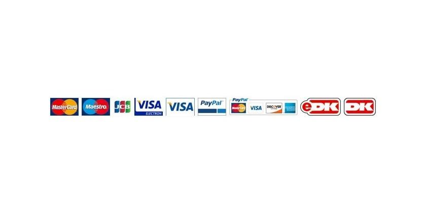 Mulighed for betaling med flere typer kort!